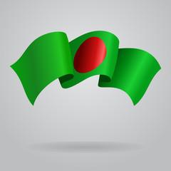 Bangladeshi waving Flag. Vector illustration