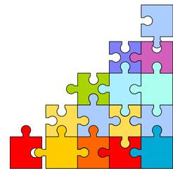 puzzle teile elemente hintergrund bunt