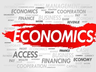 ECONOMICS word cloud, business concept