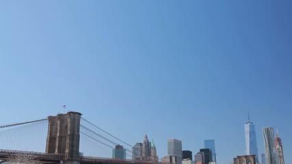 New York City Manhattan downtown buildings skyline