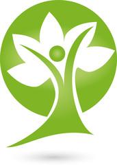 Logo, Pflanze, Blätter, Mensch, Baum