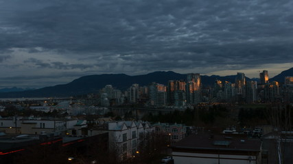 Timelapse of Clouds Over Granville Island Vancouver BC Canada