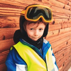Portrait of boy skier