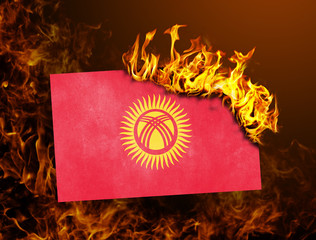 Flag burning - Kyrgyzstan