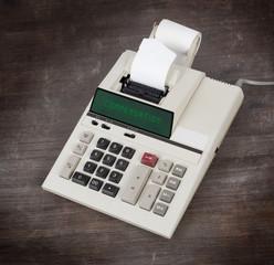 Old calculator - compensation