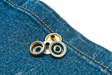 denim with metal buttons
