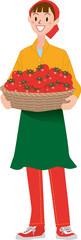 収穫 トマト