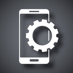 Vector smartphone settings icon