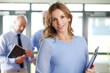 Executive businesswoman at meeting