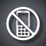 Vector no phone sign