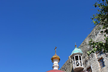 Dome of the church and blue sky