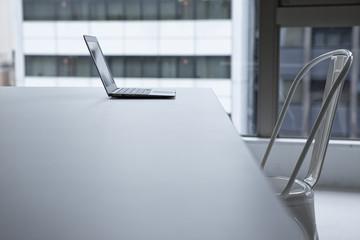 Notebook computer, office, chair, desk