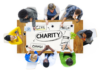 Charity Give Help Donate Change Sharing Brainstorming Concept
