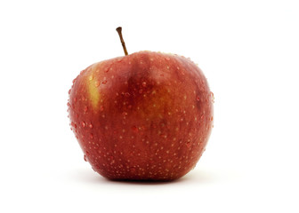 Water drops on apple