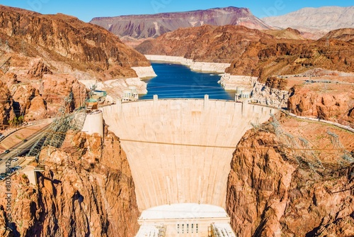 Plakat Hoover Dam w Lake Mead