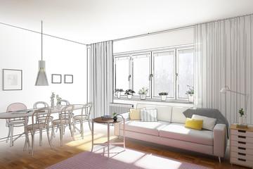 Einfache Wohnzimmereinrichtung (Planung)