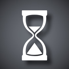 Hourglass icon, vector