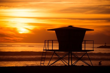 Lifeguard Tower Silhouette