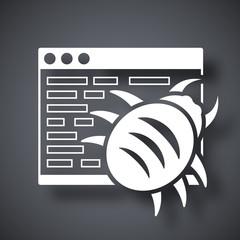 Vector malware icon