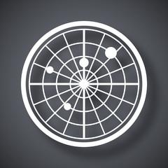 Vector radar screen icon