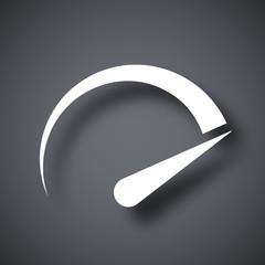 Speedometer icon, vector