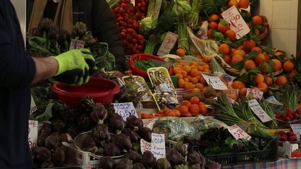 Fruit and vegetable at the market