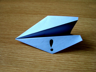 Paper airplane brings an idea
