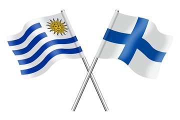 Flags: Uruguay and Finland