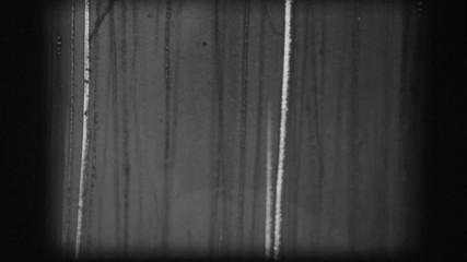 Original black and white 8mm leader tape film scratches