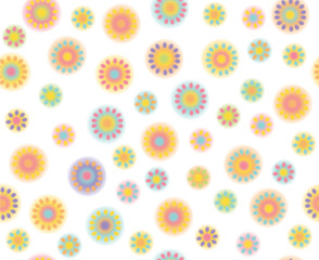 Vector abstract floral seamless pattern.