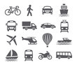Transport icons - 80375659