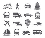 Fototapety Transport icons