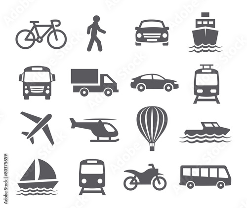 Fridge magnet Transport icons