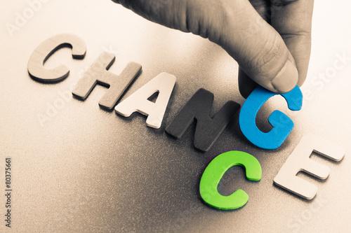 Zdjęcia na płótnie, fototapety, obrazy : Change chance
