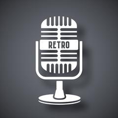 Vector retro microphone icon