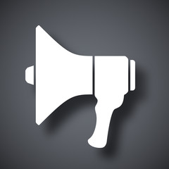 Megaphone icon, vector illustration