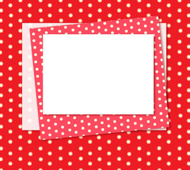Cute frame, polka dots pattern.