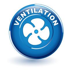 ventilation sur bouton bleu