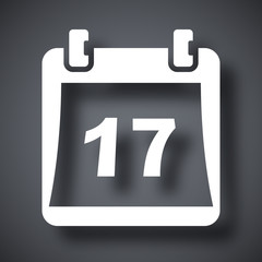 Simple calendar icon, vector illustration