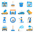 Car wash service icons set - 80376819