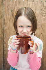 Girl with a cup