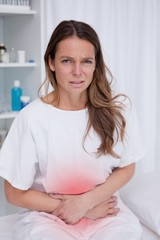 Woman having bad stomachache