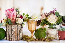 "Постер, картина, фотообои ""Beautiful elegant table for wedding party"""
