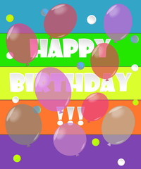 Vector bright card for birthday