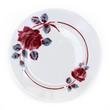 Assiette rétro décor floral