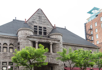 Old Stone Building iwth Round Turrets