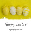 Composite image of easter eggs on grass outline