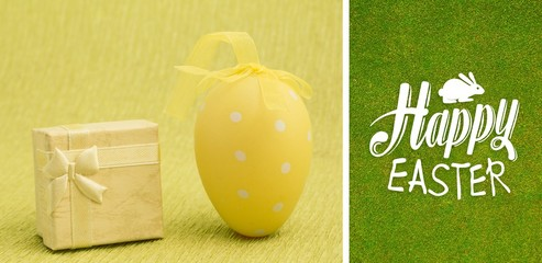 Composite image of happy easter graphic