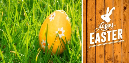 Composite image of happy easter