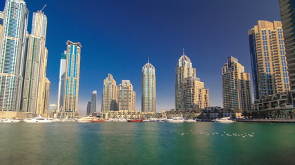 DUBAI, UNITED ARAB EMIRATES, view on Dubai Marina Canal